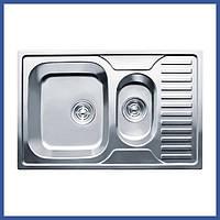 Прямоугольная кухонная мойка Imperial 7850 Decor с доп чашей (IMP7850DECD) из нержавеющей стали