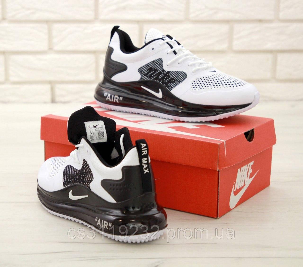 Мужские кроссовки Nike Air Max 720 (бело-черные)