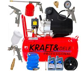 Компрессор масляный KRAFT&DELE KD401 9 bar 300l