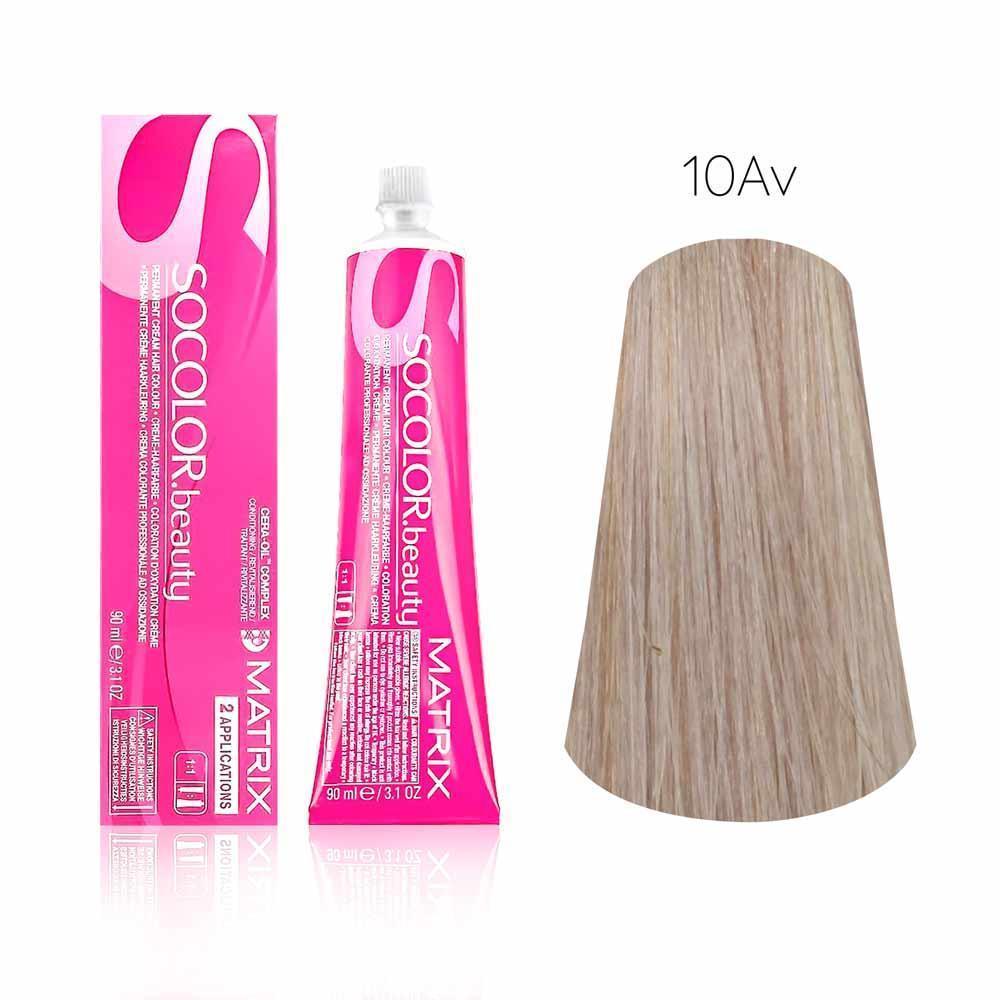 Купить Стойкая краска для волос Matrix SOCOLOR.beauty 10AV очень-очень светлый блондин фиолетово пепельный 10.12, Matrix Professional