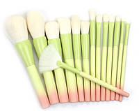 Набор кистей для макияжа 14 шт Riofan Lime