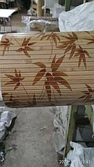 "Бамбуковые обои ""Листья бамбука"" коричневые, 0,9 м, ширина планки 8 мм / Бамбукові шпалери"