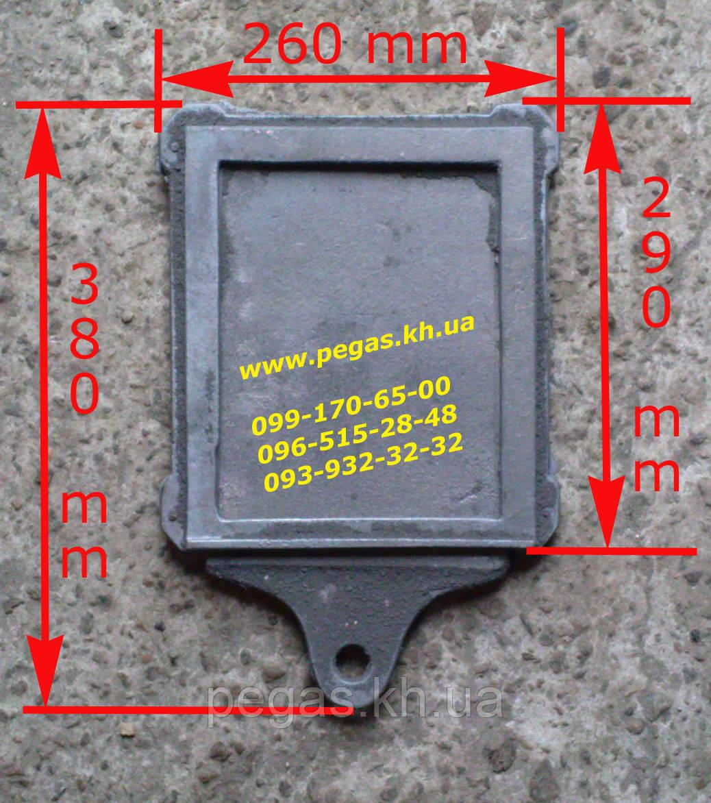 Засувка пічна чавунна велика (260х290 мм) заслінка, шубер, димар