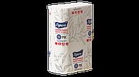 Бумажные листовые полотенца zz и v сложения 2-х слойные белые ПрАТ «Картонно-Паперова Компанія» 200 шт/уп