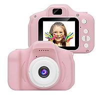 Цифровой детский фотоаппарат XoKo KVR-001 Розовый+карта памяти 16GB