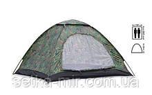 Палатка универсальная 2-х местная SY-002 (р-р 2х1,5х1,1м, PL, хаки)