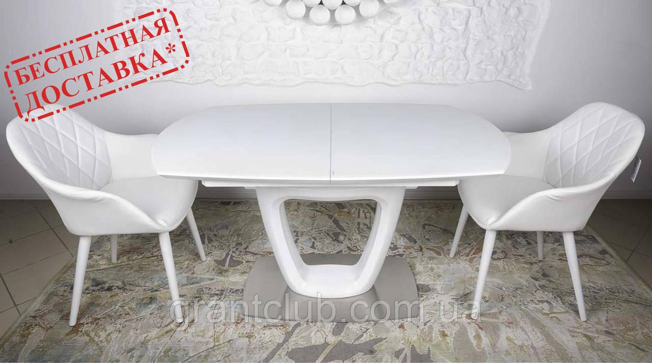 Обідній стіл OTTAWA (Оттава) 140/180 см білий матовий Nicolas (безкоштовна адресна доставка)