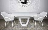 Обідній стіл OTTAWA (Оттава) 140/180 см білий матовий Nicolas (безкоштовна адресна доставка), фото 3