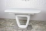 Обідній стіл OTTAWA (Оттава) 140/180 см білий матовий Nicolas (безкоштовна адресна доставка), фото 4