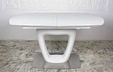 Обідній стіл OTTAWA (Оттава) 140/180 см білий матовий Nicolas (безкоштовна адресна доставка), фото 6