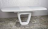 Обідній стіл OTTAWA (Оттава) 140/180 см білий матовий Nicolas (безкоштовна адресна доставка), фото 5