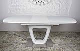 Обідній стіл OTTAWA (Оттава) 140/180 см білий матовий Nicolas (безкоштовна адресна доставка), фото 9