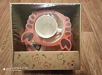 Набор детской бамбуковой посуды Крабик 5 предметов