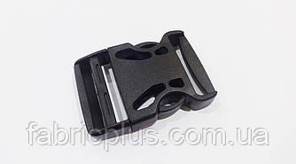 Фастекс карабин пластиковый 40 мм черный