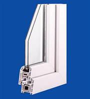 Оконный профиль створки с серым уплотнителем - чотирехкамерная система Wintech 624