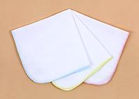 Детские муслиновые носовые платочки. Белые.