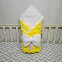 """Зимний конверт на выписку """"Минки"""", конверт-одеяло на выписку со съемным синтепоном"""