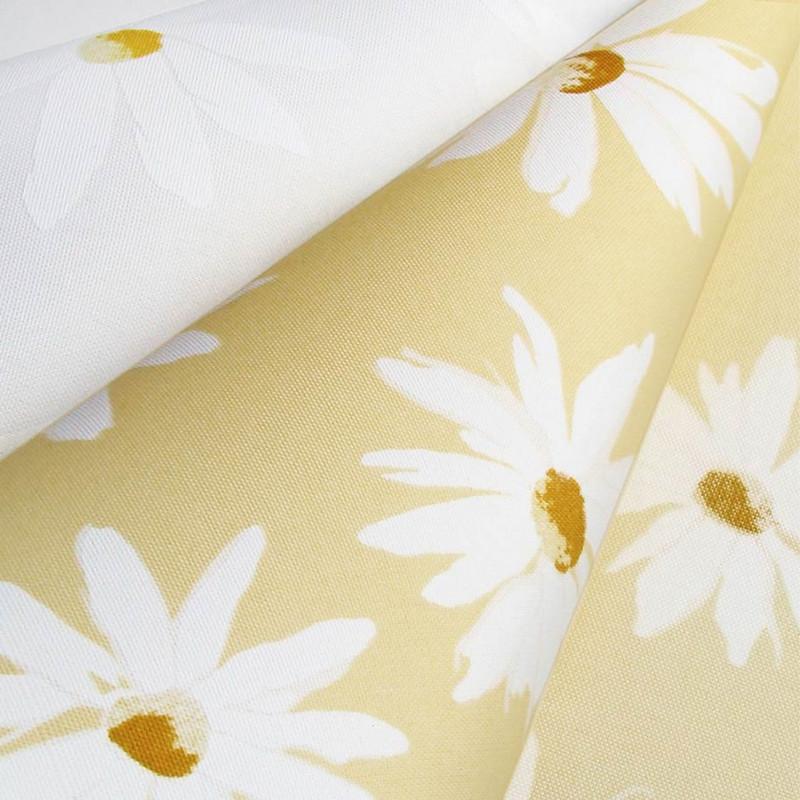 Рулонные шторы Camilla. Тканевые ролеты Ромашки