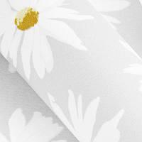 Рулонные шторы Camilla. Тканевые ролеты Ромашки Белый, 52.5