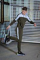 Мужской спортивный костюм  хаки-белый Spirited Intruder + Подарок