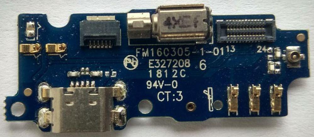 Нижняя плата MEIZU M2 с коннектором зарядки