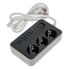 Удлинитель Power Socket MB-W09 (6xUSB/3xSocket)
