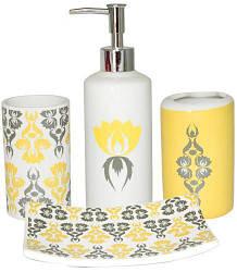 Набор аксессуаров Сказка для ванной комнаты 4 предмета керамика (psg_ST-888-06-011)