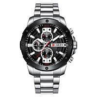 Мужские Наручные Часы Curren (8336) Кварцевые Серебристые