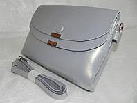 Женская сумка-клатч из натуральной кожи RVL 246342 grey, фото 1