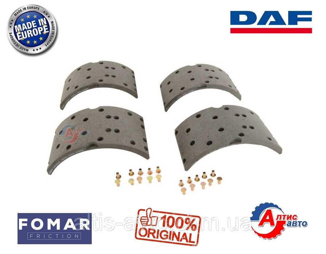 Задние тормозные накладки DAF 55 (комплект Fomar) AMPA008, AMPB018, AMPB017 (360*170) WVA 19503
