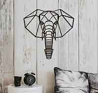 Декоративне металеве панно слон ., фото 1