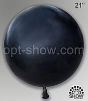 """Шар гигант черный 21"""" (52,5 см) Арт Шоу"""