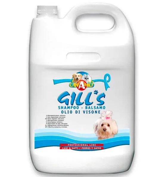 Шампунь-кондиціонер GILL'S з норковою олією для собак, 5 л
