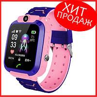 Детские умные смарт часы телефон с GPS Baby Smart Watch Q12 (S12) Original Pink