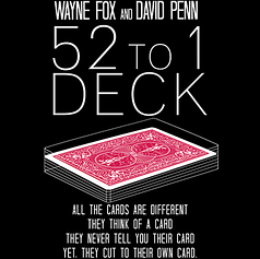 The 52 to 1 Deck Red (Gimmicks and Online Instructions) by Wayne Fox and David Penn