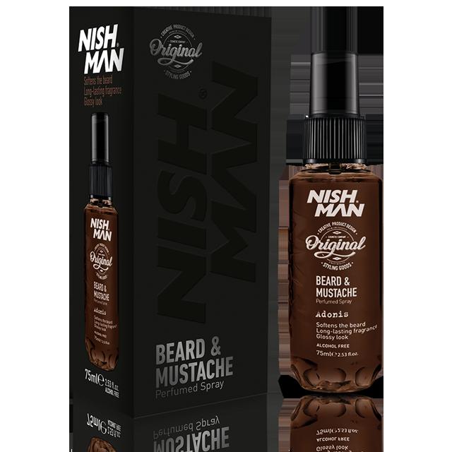 Nishman парфюм спрей для ухода за бородой и усами 75мл Adonis