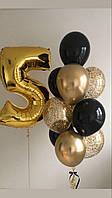 Набор шаров Фонтан из 11-ти гелиевых шаров на День Рождения