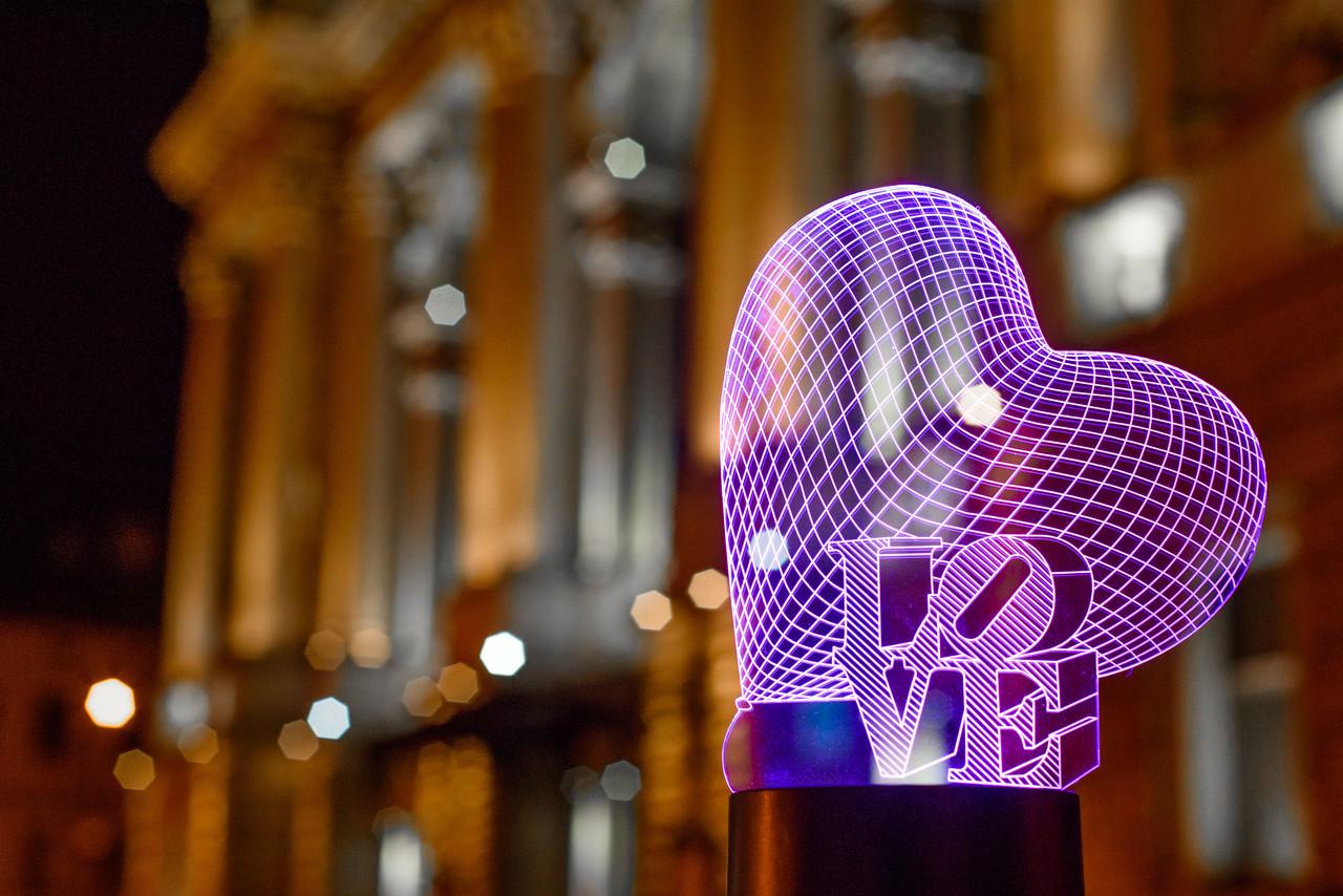 "3D светильник ночник ""Сердце LOVE""  3DTOYSLAMP"