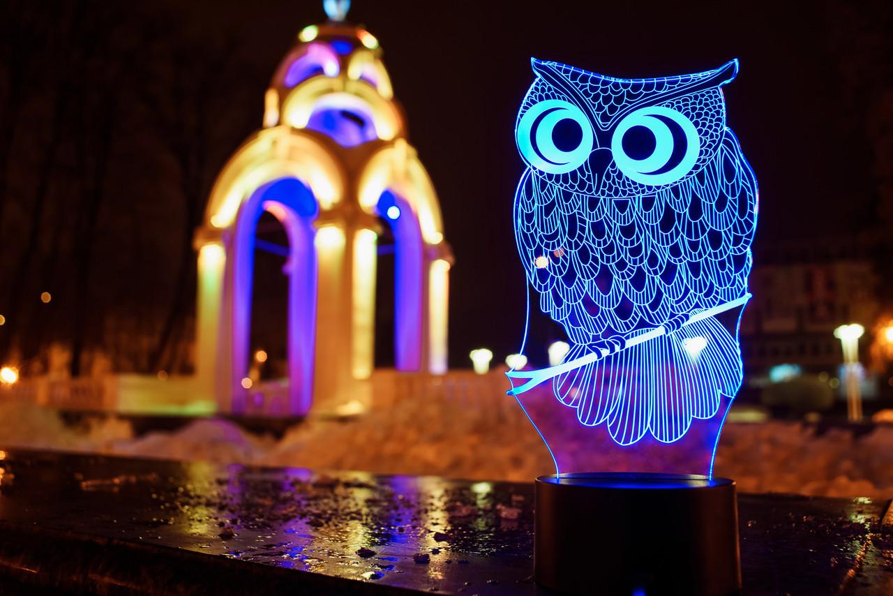 """3D светильник ночник """"Сова"""" 3DTOYSLAMP"""