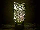 "3D светильник ночник ""Сова"" 3DTOYSLAMP, фото 2"