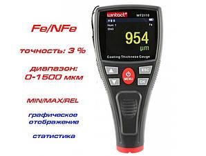 Толщиномер лакокрасочных покрытий Benetech Wintact WT2110 (от 0 мкм до 1800 мкм) Fe/NFe (mdr_5150)