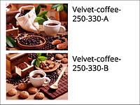 Стеклянная плитка для кухни Velvet-coffee