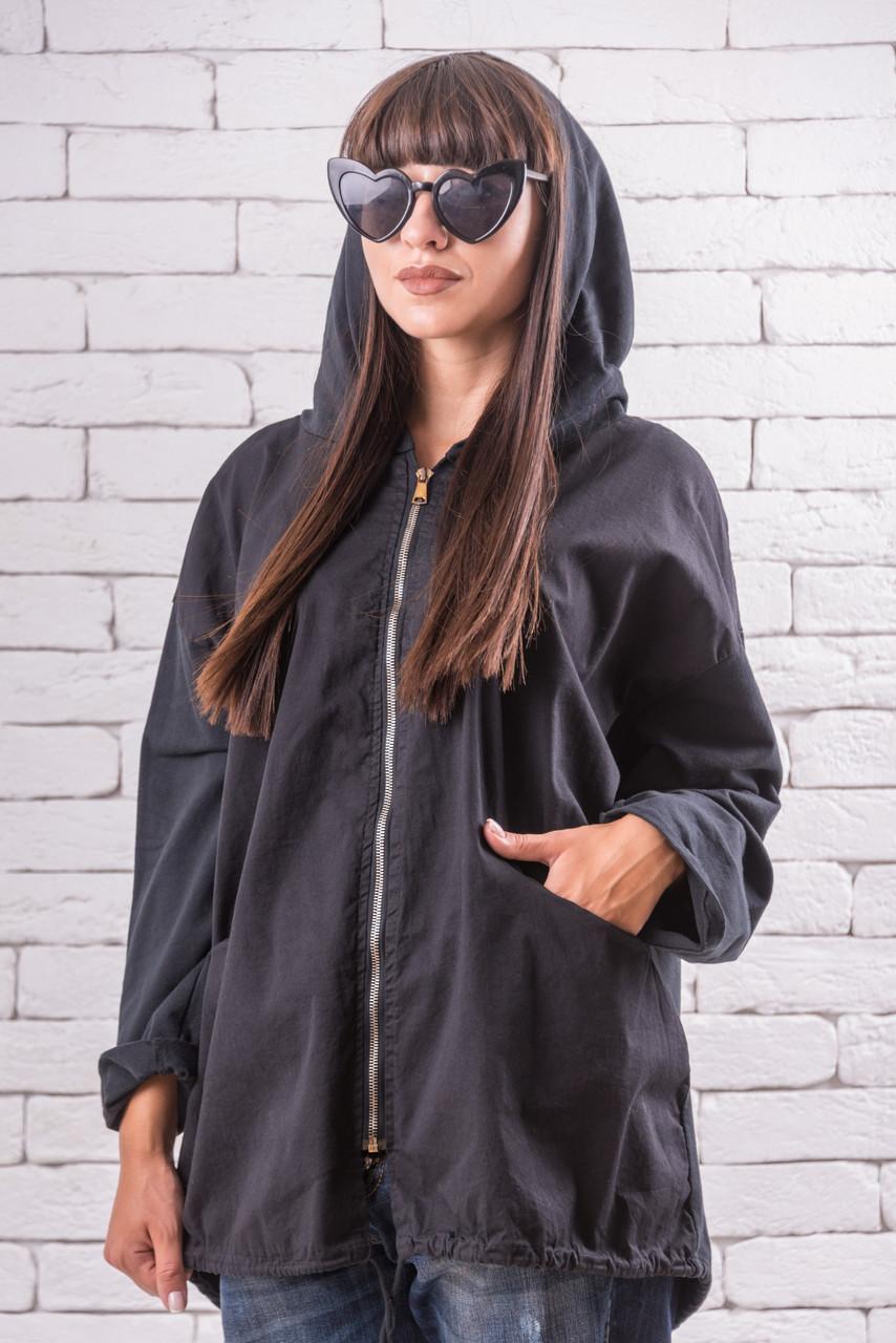 Куртки и ветровки женские   большого размера  50-56 оверсайз черный