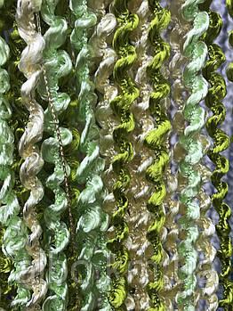 Шторы спирали радуга 300x280 cm Зеленый-салатовый-кремовый (NS-209)