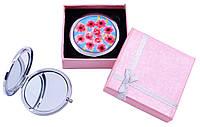 Зеркальце в подарочной упаковке Цветы №7006-7-10