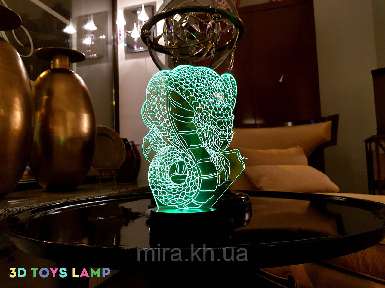 "3D светильник ночник ""Кобра"" 3DTOYSLAMP"