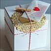 Комплект сердечек, 50 шт, размер 47*45 мм, цвет белый, фото 6