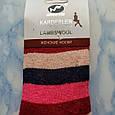 Носки женские шерстяные в розовую полоску, фото 3