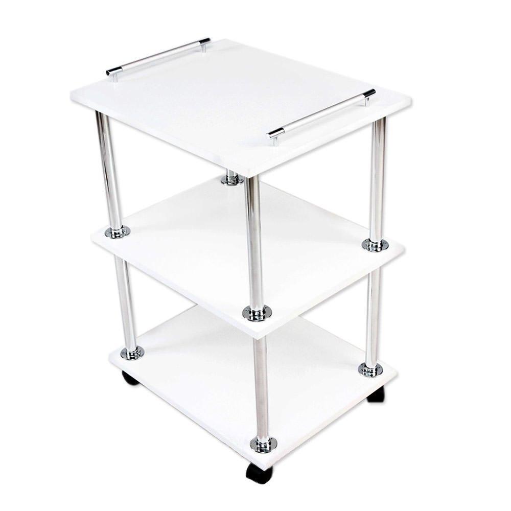 Тележка для маникюра (маникюрный передвижной столик) Уна-мини (с двумя ручками)