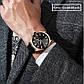 Мужские Часы Наручные Кварцевые Классические Curren (8322) 3 АТМ Золотые с Черным Циферблатом, фото 4